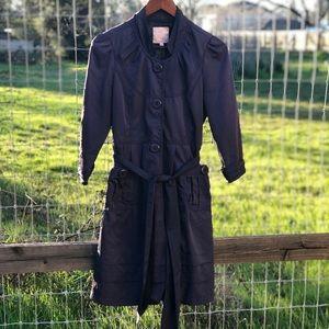Romeo & Juliet Couture Indigo Button Raincoat M